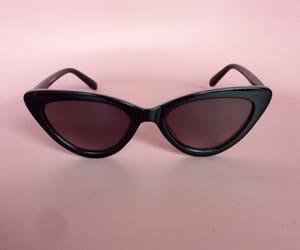 black, fifties, and sunglasses image