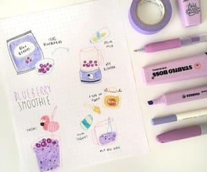 inspiration, journaling, and purple image