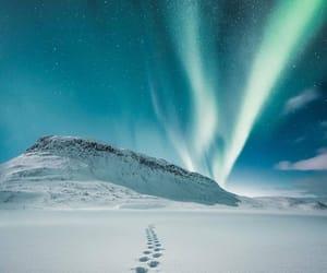 lights, winter, and sky image