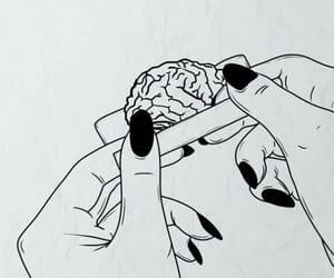 brain, art, and smoking image
