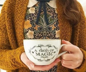 magic, yellow, and cup image