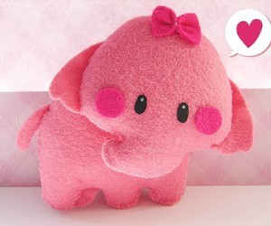 bow, pink, and love image