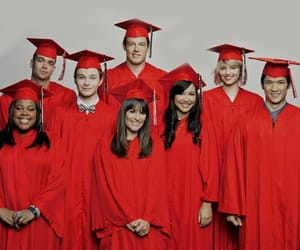 glee, rachel, and red image