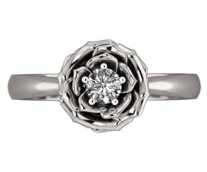 etsy, wedding ring, and flower ring image