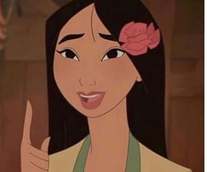 mulan, disney, and flowers image
