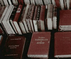 book, red, and aesthetic image