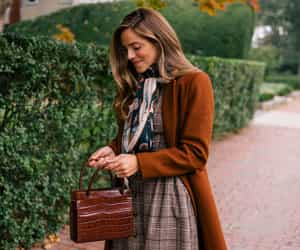 autumn, scarf, and tote image