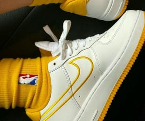 nike, yellow, and aesthetic image