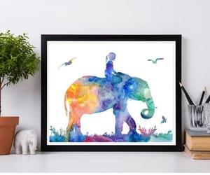 animal print, elephant print, and kids room decor image