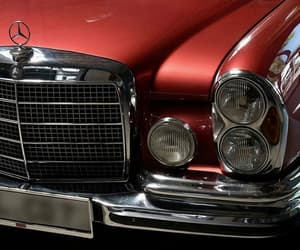 cars, mercedes, and red image