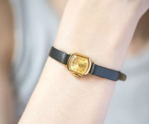 etsy, gold women watch, and leather watch lady image