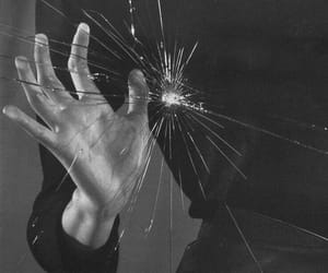 hand, glass, and broken image