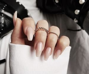 nails, beauty, and rings image