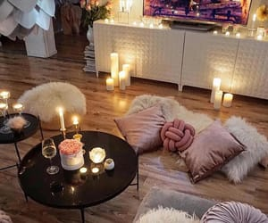 room, candles, and beautiful image