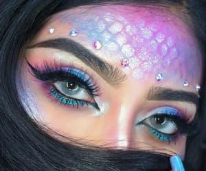 makeup, mermaids, and style mermaids image