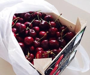 food, healthy, and cherry image