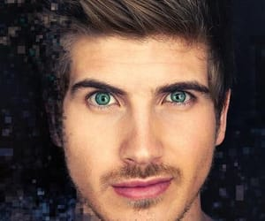 book, brown hair, and green eyes image