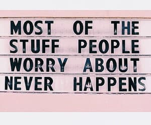 worry, quotes, and pink image