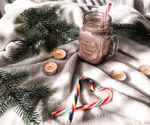 candle, candy, and christmas image