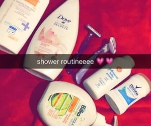 products, routine, and shower image