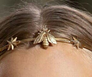 accessories, hair, and bee's image