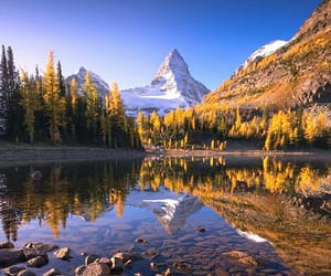 landscape, mountains, and reflection image