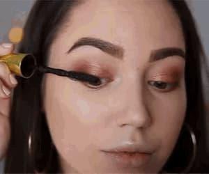gif, makeup gifs, and eyelashes gif image
