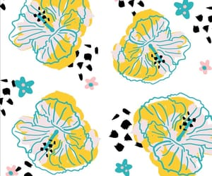 floral pattern, hibiscus, and flower pattern image