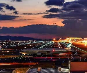 airfield, airplane, and airport image