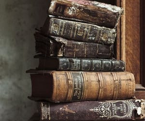 books, stack of books, and vintage image
