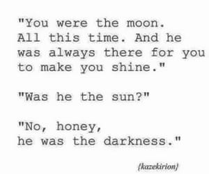 moon, Darkness, and quotes image