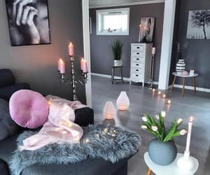 home, interior, and candles image