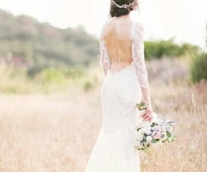 dress, nikki reed, and wedding image