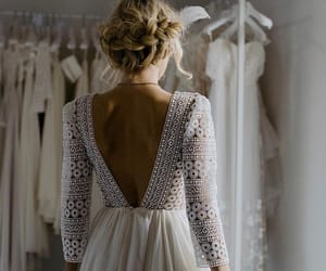 beauty, bride, and dress image
