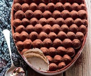 tiramisu, food, and sweet image
