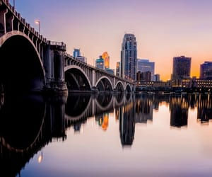 bridge, city lights, and cityscape image