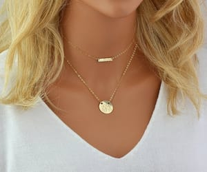 etsy, minimal necklace, and chain choker image