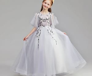 little girl dress, simple flower girl dress, and wedding party dresses image