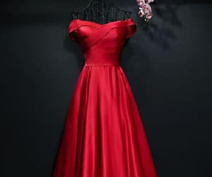 evening dresses red, evening dresses long, and prom dresses simple image
