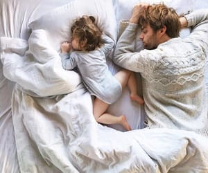 bed, family, and daughter image