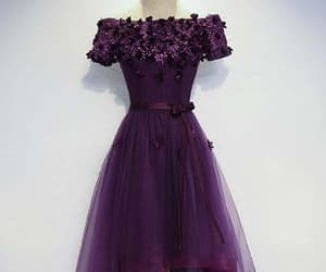 short prom dresses, cute homecoming dress, and homecoming dress purple image