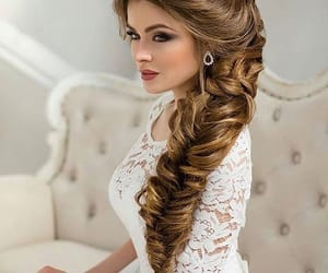 hair, bride, and makeup image