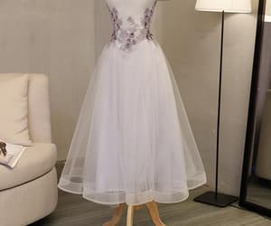 grey prom dresses, lace prom dresses, and beautiful prom dresses image