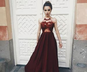 a-line prom dresses, evening dress red, and sexy evening dress image