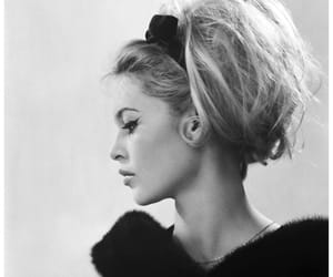 brigitte bardot, hair, and black and white image