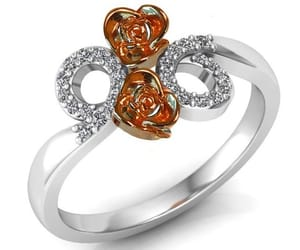 etsy, promise ring, and flower ring image