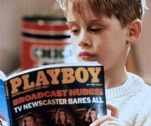 home alone, Playboy, and Macaulay Culkin image