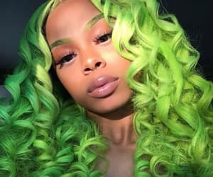 wig, curls, and girl image