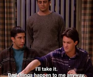 chandler bing, Joey, and quote image
