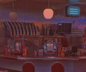 aesthetic, vintage, and diner image
